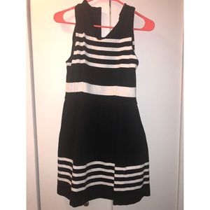 Jcrew black and white classy work dress